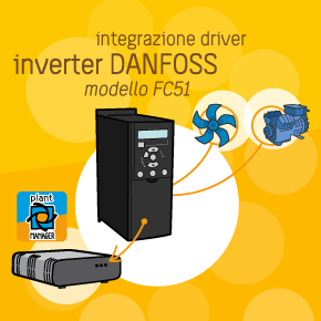 Danfoss FC51 inverter integrated into plantMANAGER system