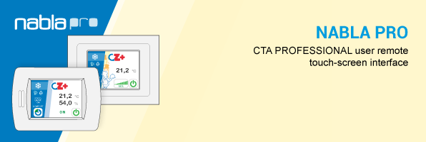 CTA PROFESSIONAL user remote touch-screen interface