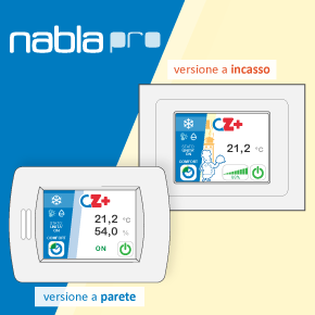 NABLA PRO, CTA PROFESSIONAL user remote touch-screen interface
